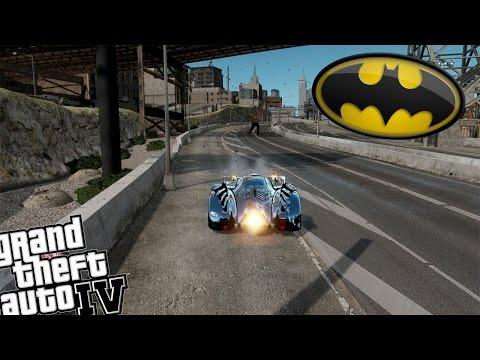 GTA 4 Batman Mod vs Bane Mod - Batman Saves Liberty City From Bane!