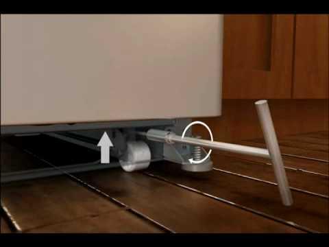 Realign Uneven Refrigerator Doors Adjustable Rollers