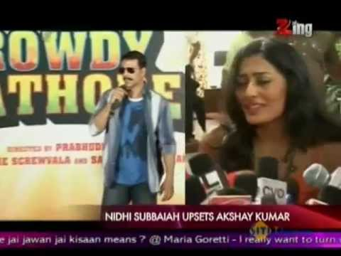 Nidhi Subbaiah Upsets Akshay Kumar