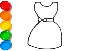 How to draw girls dresses. ( Barbie dress Drawing and Coloring pages for kids ) #11.