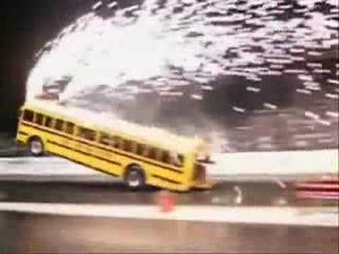 school bus wheelie