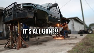 Cutting All Of The Factory Suspension Off My Truck! No Going Back Now!!!