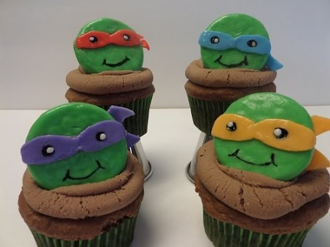 How to make cupcakes Inspired by Teenage Mutant Ninja Turtles
