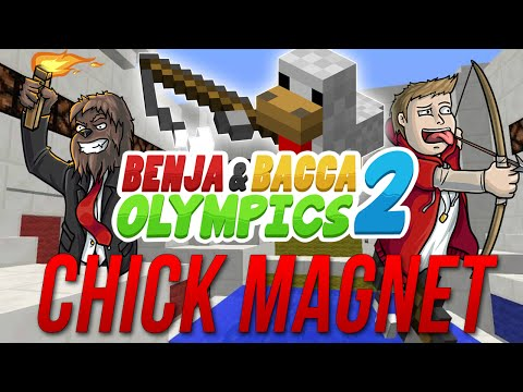 Minecraft Benja & Bacca Olympics 2: Chick Magnet - Game 2! (Wet T-Shirt Ice Bucket Challenge)