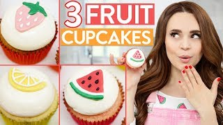 3 DIY FRUIT FLAVORED CUPCAKES!