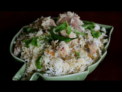 Murgh Sofiyani Biryani (White Chicken Biryani Recipe)