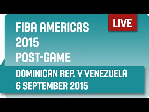 Post-Game: Dominican Republic v Venezuela - Second Round -  2015 FIBA Americas Championship