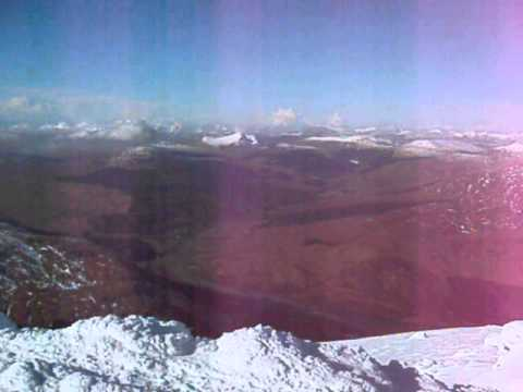 Winter Ben More Summit Southern Scottish Highlands Of Scotland