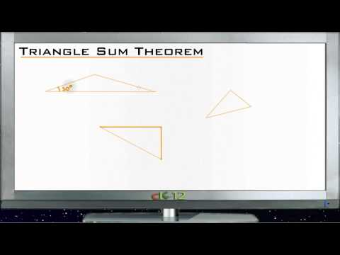 Triangle Sum Theorem Principles - Basic