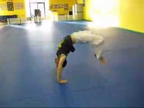 Bridge Progression to a Back Walkover Bridge to Back Walkover