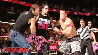 John Cena & Dean Ambrose vs. The Usos vs. Gold & Stardust - Triple Threat Tag Team Match