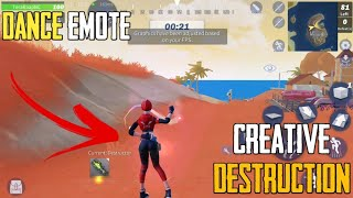 How To Dance Emote in Creative Destruction!! | Fortcraft