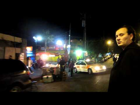 Walking Tour of Tijuana Mexico after dark