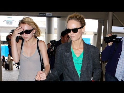Vanessa Paradis Unfazed By Breakup With Benjamin Biolay, Catches Flight With Lily-Rose
