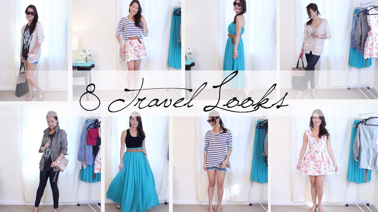 8 Outfits 1 Carryon Suitcase Vacation Outfit Ideas