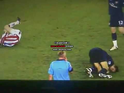 Ryan Shawcross Tackle on Aaron Ramsey.flv