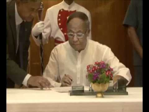 OKRAM IBOBI SINGH SWORN IN AS NEW CM