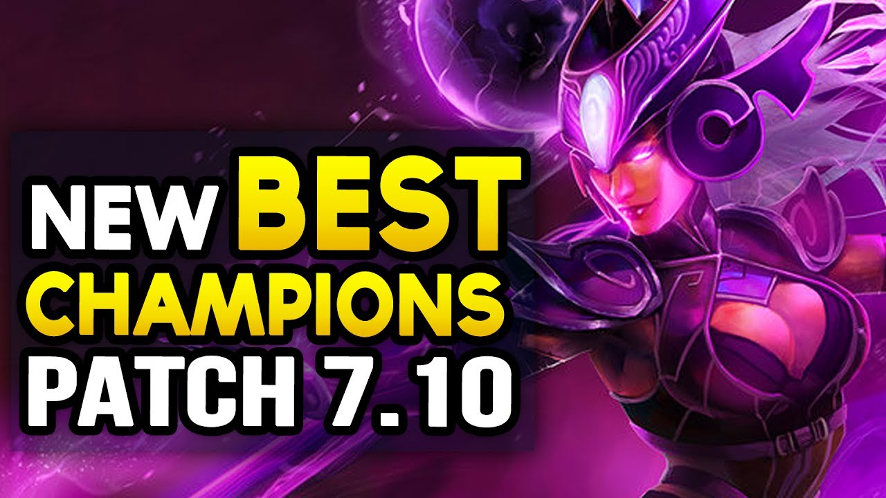 NEW BEST CHAMPIONS IN 7.10 to CARRY for every role (League of Legends)