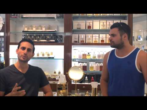 Steven and Tim at Osswald talking about their favorite scents