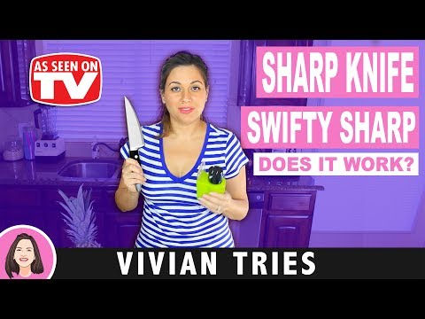SHARP KNIFE REVIEW   TESTING AS SEEN ON TV PRODUCTS   SWIFTY SHARP   VIVIAN TRIES