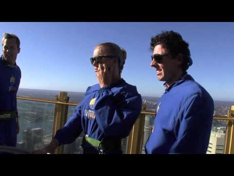 Caroline Wozniacki and Rory McIlroy at the Sydney Tower Eye SKYWALK: Apia International Sydney 2013