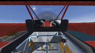 Flightgear Red Baron Fokker Dr.1 Takeoff & Landing Tutorial