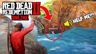 SAVING ONLINE PLAYER FROM DEATH! (Red Dead 2 Fails & Funny Moments #5)