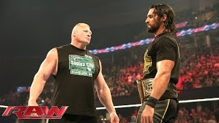 Brock Lesnar is revealed as Seth Rollins
