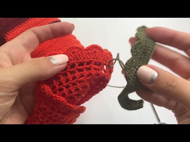 Кайма крючком Мастер-класс Вязание для начинающих /Crochet border/