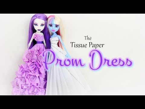 How to Make a Tissue Paper Prom Dress | plus Monster High Prom 2014