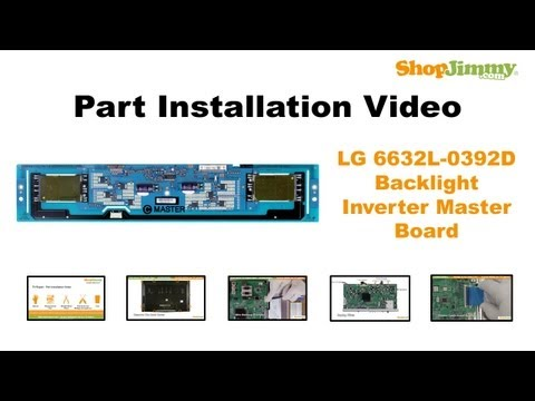 Simple LG 6632L-0392D Backlight Inverter Master Boards Replacement Guide for LCD TV Repair