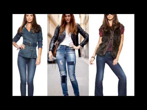 Девушка джинсах попа