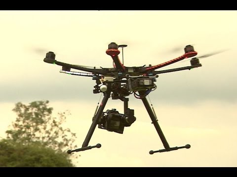 'HEXACOPTER' DRONE FLYING CAMERA - BBC NEWS