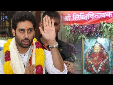 Abhishek Bachchan Visits Siddhivinayak