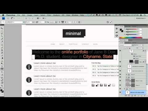 Converting a PSD to HTML & CSS - Part 1/3