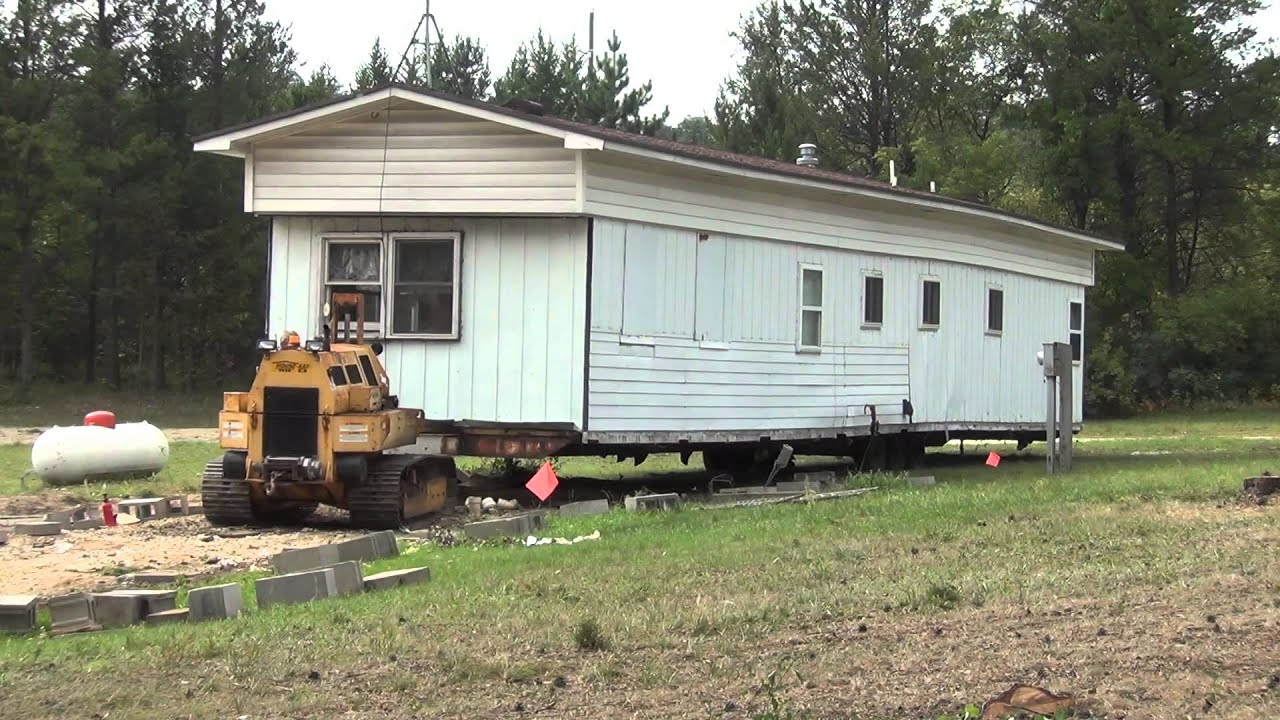 Moving the trailer house youtube for How to move a building