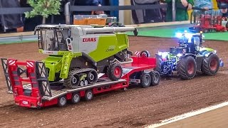 RC tractors in action! Nice R/C farming in 1:32 scale!