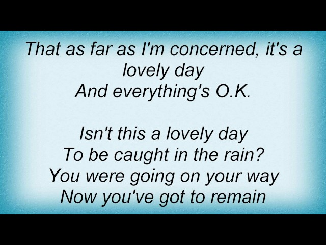 Stacey Kent - Isn39t This A Lovely Day Lyrics