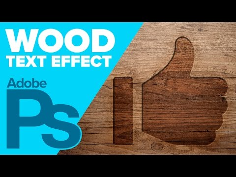 Photoshop: Wood Text Effect (Photoshop CS6)