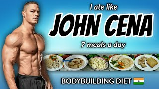 "I Tried "" JOHN CENA "" diet plan for a day !! 🇮🇳"