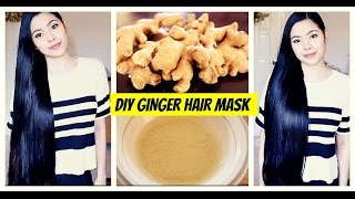DIY Ginger Hair Mask for Hair Growth-Natural Hair Loss Treatment -Cure for Dandruff & Thinning Hair