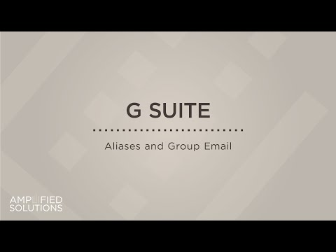 AS G suite aliases and group email
