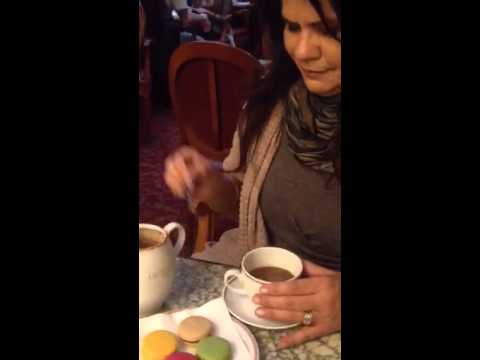 Loreal And Her Mom Enjoying Some Hot Chocolate In Paris video