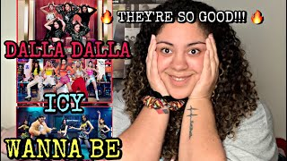 REACTING TO ITZY FOR THE FIRST TIME | DALLA DALLA + ICY + WANNA BE