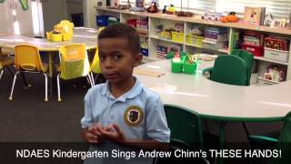 NDAES Kindergarten Sings Andrew Chinn's These Hands