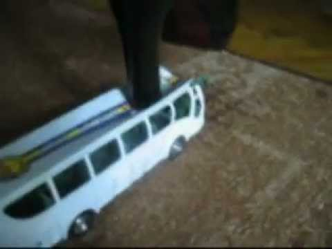 heels crush toy bus