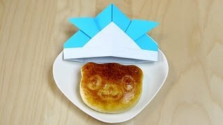 Animal Bread With Origami Kabuto : Animal Friends Food Deco Cutter Kit 動物パン 折り紙 カブト