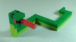How To Build Lego SNAKE - 6177 LEGO® Basic Bricks Deluxe Projects for Kids