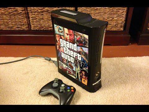 Xbox 360 Custom Console Shell Gta iv Xbox 360 Console