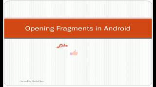 Opening Fragment from Activity in Android